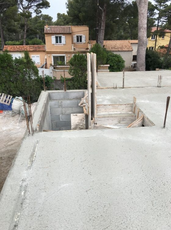 chantier de maison contemporaine d 39 architecte martigues